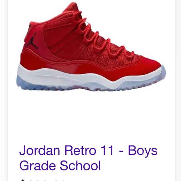 on sale 8f89c 4ff67 Youth Boys Jordan Retro 11